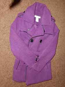 Purple Peacoat (Size SP - 6/7) by Joe Fresh