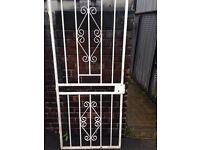 Security gate metal gate metal grill door grill burglar bar wrought iron gate