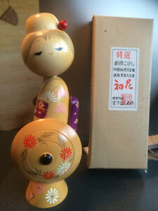 4 Beautiful Wooden Japanese Dolls - from Japan