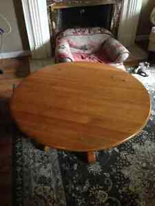 Solid Wood Round Coffee Table