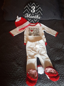 3 Month Christmas Baby Outfit