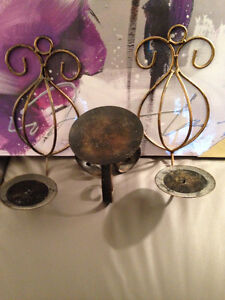 Candle Holder/2 Wall Candle Holders