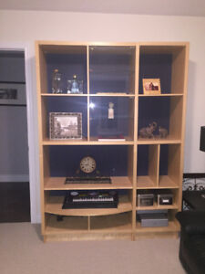 TV entertainment stand built in - Mint condition.
