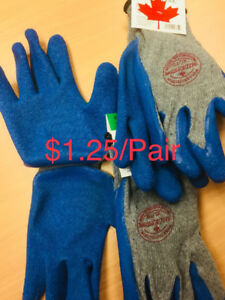 New Unused Pu Coated Heavy Duty Thick Work Gloves $1.25/Pair