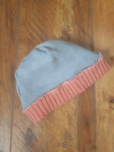 Upcycled lined baby toque