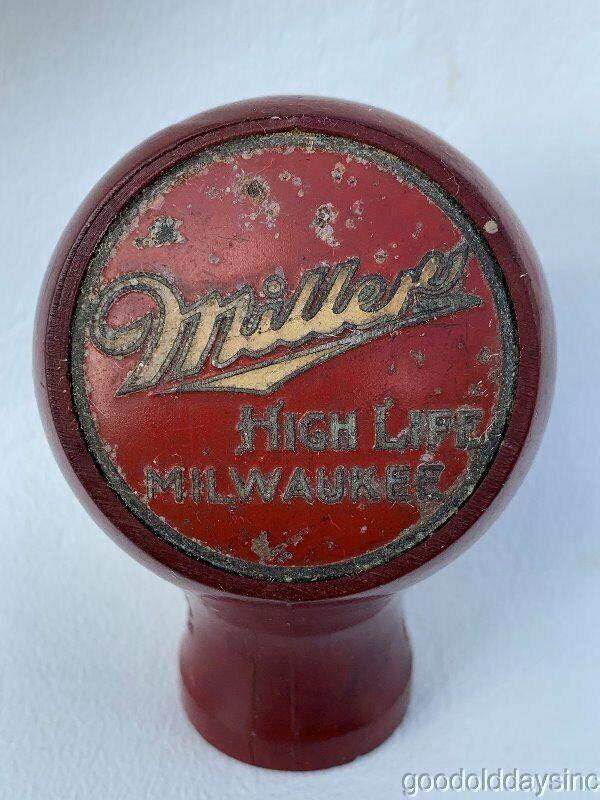 Vintage Miller High Life Milwaukee Round Beer Knob Tap Handle