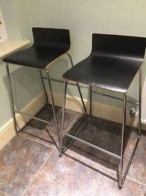 2x Ikea Sebastian bar stools