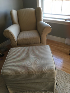 Rocking Chair & Matching Ottoman for Sale