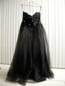 Black Tulle Ball Gown: Never Worn $250 OBO