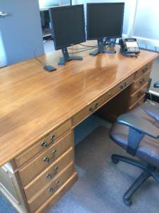 Executive Desk,  Credenza and Side Tables