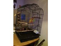 Open top parrot cage inc accessories for sale
