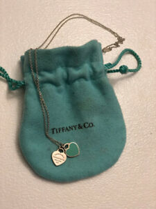 Tiffany and Co. Sterling Silver Mini Double Heart Necklace