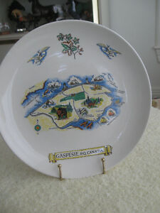 GORGEOUS OLD VINTAGE GASPESIE QUEBEC COLLECTOR'S PLATE