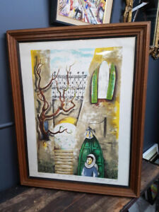 """Ziv Livni (Polish-Israeli 1927-), LITHOGRAPH, """"IN THE OLD CITY"""""""