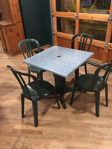 Commercial Green Bistro Chair