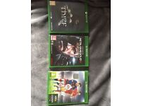 Xbox one 500gb with 3 games
