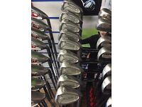 NICKLAUS AIRBEAR IRONS 3-SW. STEEL SHAFTS AVERAGE CONDITION