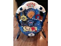 FISHER PRICE KICK & PLAY BOUNCER!!!