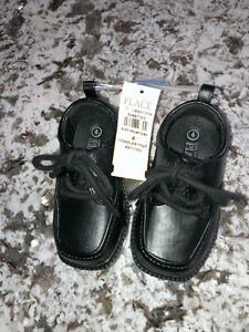 Baby/toddler boy's black dress shoes, sz 4, new with tags