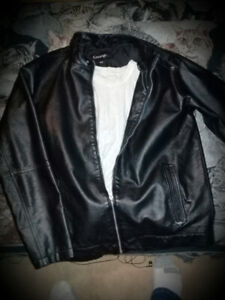 REALLY NICE Black George M/M mens leather jacket!