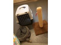 Cat cage an accessories