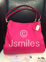 100% Authentic COACH Madison Phoebe Pink Ruby Small Brand New