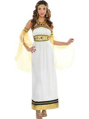Ladies Greek Roman Grecian Goddess Toga Fancy Dress Womens Costume Size 8-20