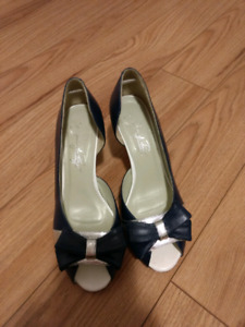 Navy and silver shoes