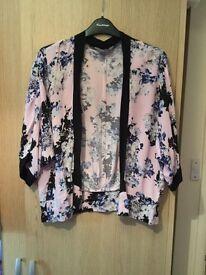 Dorothy Perkins - kimono (thin jacket) size 8 - large fit