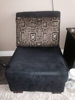 2 black microfibre chairs from Leons