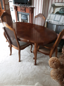 Dining table , chairs and Buffet hutch set