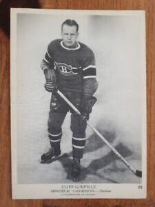 2 CARTE HOCKEY CARD 1939-40 OPC MONTREAL ET CHICAGO