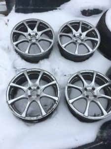 "17x8"" 4x100 alloy rims"