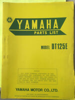 1977 Yamaha DT125E Parts List