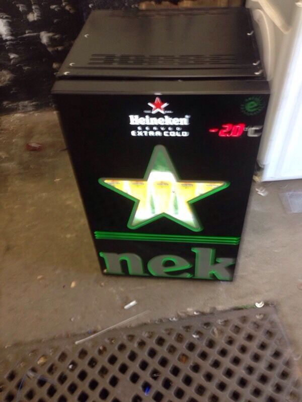 Beer Chiller Fridge Cooler Heineken Illuminated Branding