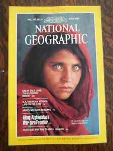 NATIONAL GEOGRAPHIC AFGHAN GIRL x 2