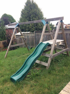 Kids' Outdoor Play Set/Wooden Jungle Gym