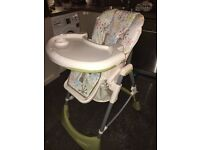 Cosatto Aurora highchair, as new, chair, seat, baby, bouncer, cot,
