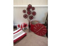 Red Livingroom or Bedroom Accessories