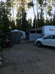 Trailer on leased lot Nobles Point, Candle Lake
