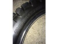 2x 90/100-16 bridgestone tyres