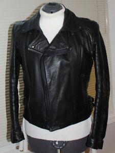 Motorcycle Jacket, Black leather