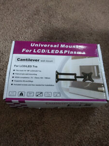 "New Full Motion TV & Monitor Wall Mount. Fits 14-30"" 45lbs"