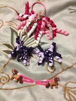 Gymboree hair ties and clips