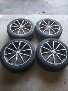 17 inch  rims and tires for sale 4x100 NEW PRICE
