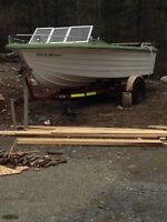 21 ft Fiberglass boat with canopy