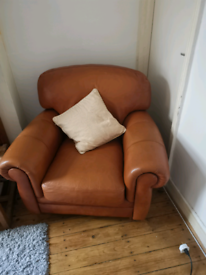 Leather sofa and arm chairs for sale
