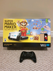 Wii U Mario Maker - Console, extra remote and 3 games