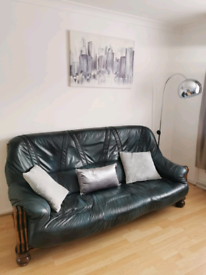 Leather lounde set sofa +2 armchairs