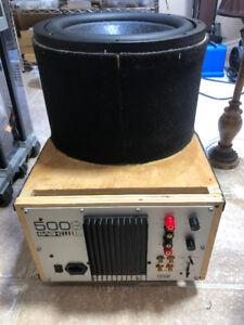 subwoofer 12inch bash 500s amp